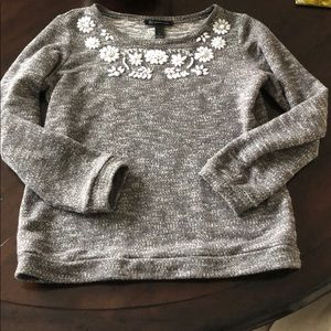 INC Beaded Flower Sweater
